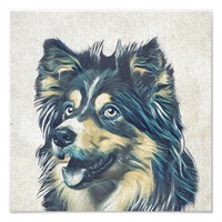 Shetland Sheepdog Painting Photo Print