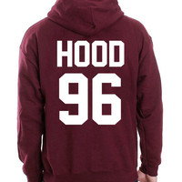 5sos Hoodie Calum 96 Hooded Sweatshirt Logo Black White Gray Red Maroon Unisex Hoodie Tee S,M,L,XL #2