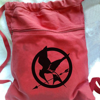 Hunger Games Backpack Mocking jay inspired design