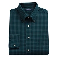 Croft & Barrow Fitted Plaid Easy-Care Button-Down Collar Dress Shirt