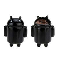 Black Robot Mini Ceramic Pot