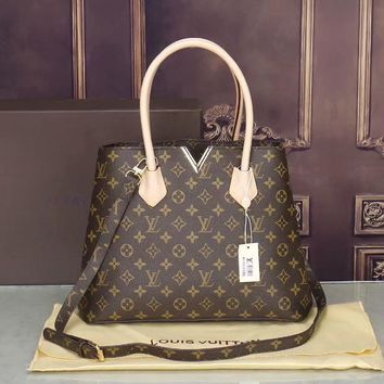 LV Women Shopping Bag Leather Satchel Crossbody Shoulder Bag-12