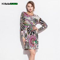 KISSyuer Cotton Print Women Summer Dress Evening Colorful Striped 2017 Hot Celebrity Party Dress Various Beach Cover Up KD222