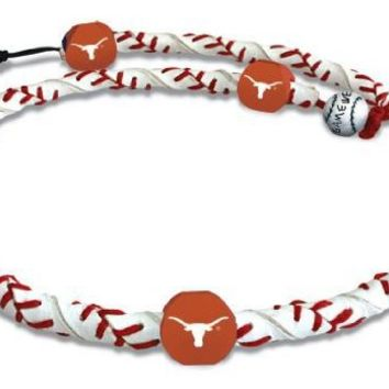 NCAA Texas Longhorns Classic Frozen Rope Baseball Necklace