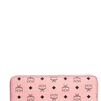 MCM Visetos Original Zip Around Coated Canvas Wallet | Nordstrom