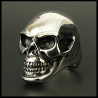 Size 8-15 Band Party Huge Polishing Skull Ring 316L Stainless Steel Cool Fashion Men Silver Biker Skull Ring