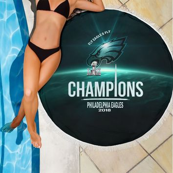 Philadelphia Eagles Champions Beach Blanket|Picnic Blanket Father's Day Gift