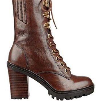 Finlay Lace-Up Booties at Guess