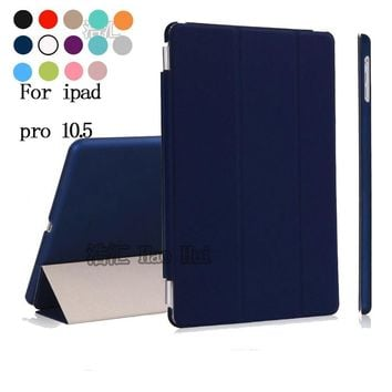 Luxury Ultra thin Solid Magnetic Flip Foldable Stand Leather Cases Smart Cover For Apple ipad pro 10.5 2017 Shell Protector