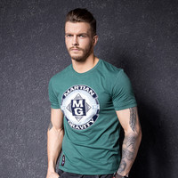 Print Short Sleeve T-shirts Summer Men's Fashion Round-neck Bottoming Shirt [10488644163]