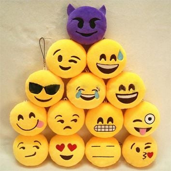 Fashion Emoji Emoticon Funny Face Keychain Pendant Key Chain Bag Accessory