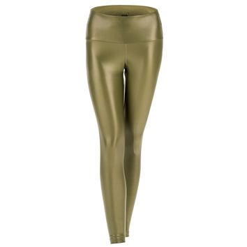 BEYOND LEGGING - HIGH WAISTED METALLIC ARMY