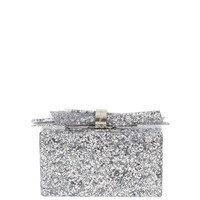 Edie Parker Wolf Shard Marbled Resin Clutch Bag