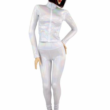 2PC Flashbulb Mock Catsuit (Leggings & Top)