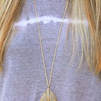 Morning Phase Necklace: Tan/Gold