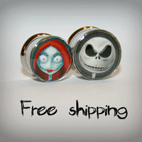 Custom plugs 2 sides plugs Stainless steel by triballook on Etsy