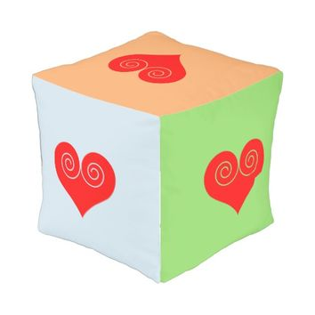 Heart Outdoor Pouf
