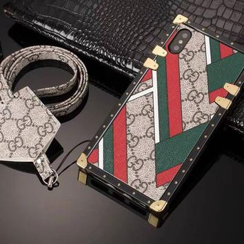 Abstract In Color GG Monogram Trunk Case w/Earphone Holder