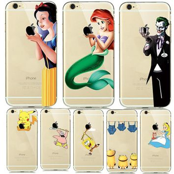 Spongebob Disney Princess The Joker Phone Case For iphone 7 Plus 5s 6s 5 6 ...