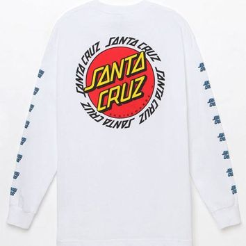 DCCKJH6 Santa Cruz Ringed Dot Long Sleeve T-Shirt