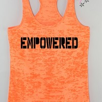 Empowered Womens Racerback Tank