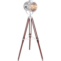 Ahoy Floor Lamp, Chrome/Cherry
