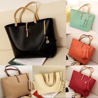 Korean Hobo PU Leather Women Messenger Satchel Handbag Shoulder Tote Purse Bag = 1697510852