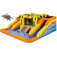 Amazon.com: Blast Zone Rainforest Rapids Inflatable Bouncer with Slides by Blast Zone: Toys & Games