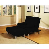 Walmart: Atherton Home Manhattan Convertible Chair and Ottoman, Black