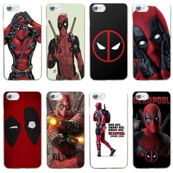 Deadpool Dead pool Taco 77GV Cool Marvel Hero  Coque Hard Transparent Cover Case for iphone 4 4s 5 5s se 6 6s 8 plus 7 7 Plus X AT_70_6