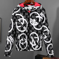 """GUCCI"" Trending Women Men Stylish Hooded Zipper Cardigan Sweatshirt Jacket Coat Windbreaker Sportswear I-A00FS-GJ"