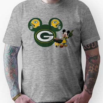 Mickey Mouse Green Bay Packers fan Unisex T-Shirt