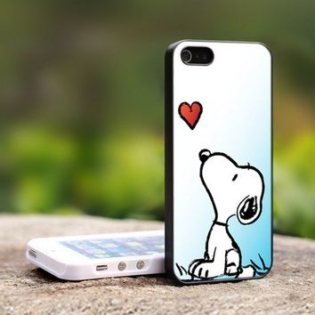 snoopy - For iPhone 5 Black Case Cover