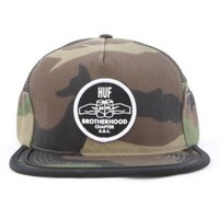 Huf, Brotherhood Side Mesh Snapback - Woodland Camo - Snap-back Hats - MOOSE Limited