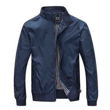 Mens Spring Summer Jackets Casual Thin Male Windbreakers College Bomber Black Windcheater Hommes Varsity Jacket