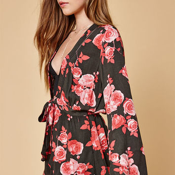 Honey Punch Low V Tie Front Romper at PacSun.com
