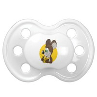 Cute mouse cartoon BooginHead pacifier