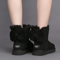 Fashion Online Ugg Women Cute Bow Casual Boots Shoes