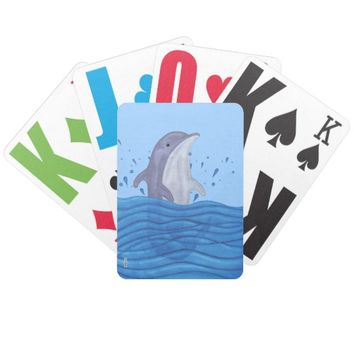 Dolphin Splash Bicycle Playing Cards