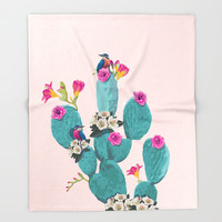 Cactus Hummingbirds Art Print by Lostanaw