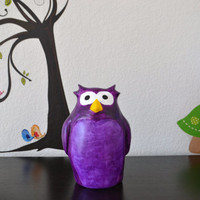 Custom Made to Order Owl Coin Bank Piggy Bank