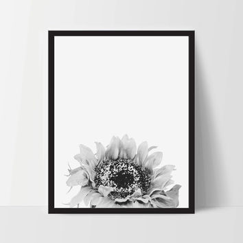 Sunflower Poster Print Art, Dorm Room Home Decor Artwork  [Unframed]