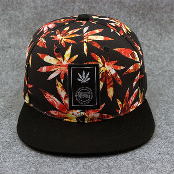 Swag Bones Weed Snapback Caps I Love Weed Snap Back Hats Hip Hop Baseball Cap Bo