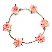 Elora Floral Head Crown - Peach