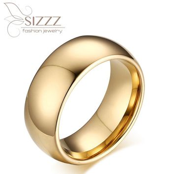 100% Tungsten Ring For Men Male Wedding Engagement Metal Classic Jewelry
