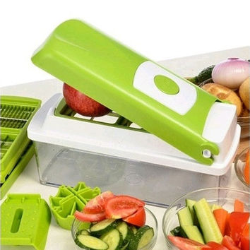 Super 12pcs Slicer Plus Vegetable Fruit Peeler Dicer Cutter Chopper Nicer Grate [9145121926]
