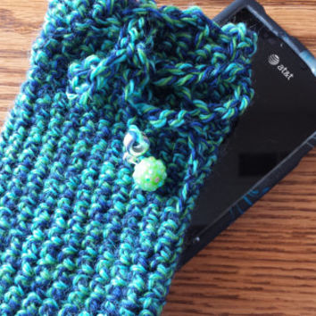 Cell Phone Cozy Case Turquoise