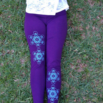 METATRONS CUBE Sacred Geometry Leggings