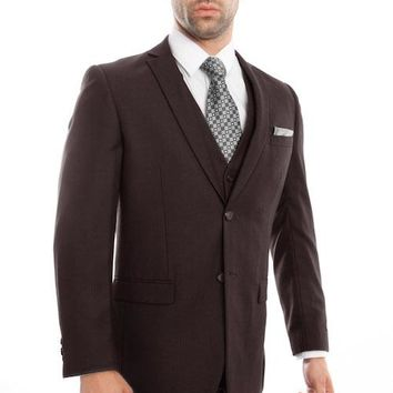 Brown Tone on Tone Stripe Suit