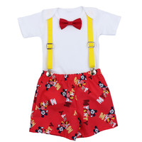 Mickey Mouse First Birthday Outfit | Smash Cake Outfit | Boys 1st Birthday Outfit